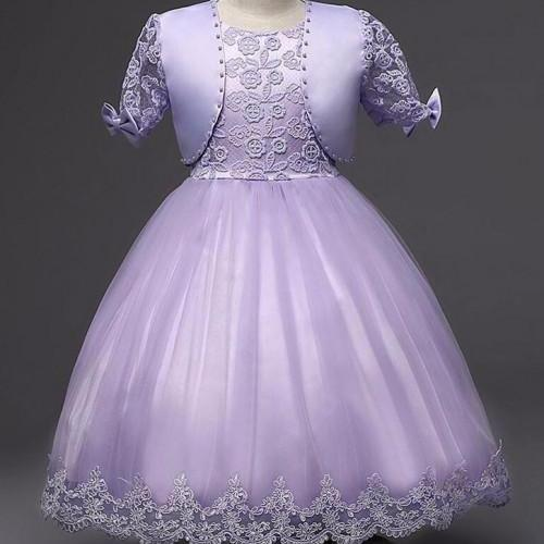 2 pcs/set Dress and Shrug Lavander Formal Wear for Girls New Matching Set Quinceanera Ballgown Dresses