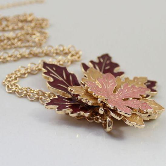 Maple Fall leaves Necklace Fall Mode Accessories for Women Fashion High Quality Necklaces