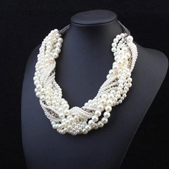 Wedding White Pearl Necklace Luxury Pearl Necklace