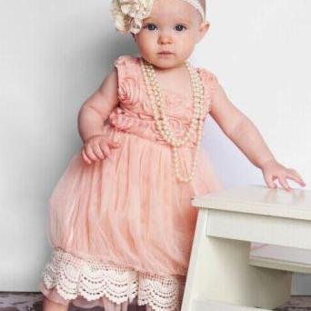 Classic Pink Princess Dress for Flower Girls Vintage Style Pink Dress