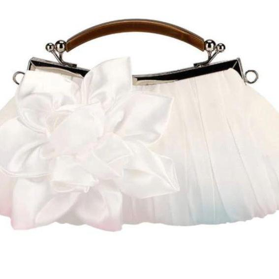 White Clutch Women White Evening Purse Shoulder Bags for Party Prom Handbags