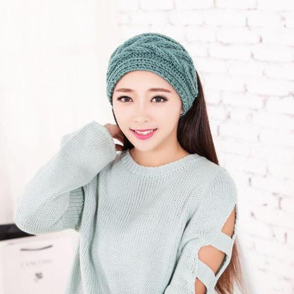 Mint Green Headwraps Knitted Ear Warmers for Winter,Spring,Autumn