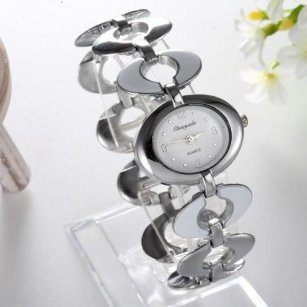 Silver Color Watch Unique Shape Design Quartz Casual Fine Silver Watch