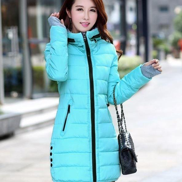 Sky Blue High Quality Parkas Winter Jackets Outwear for Women Winter Down Parkas