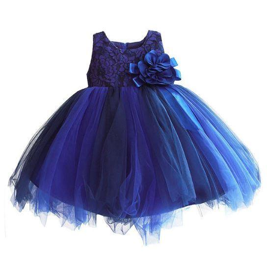 Blue Tutu Dress Wedding Dress Birthday Party Dress for 2T Royal Blue Toddler Girls