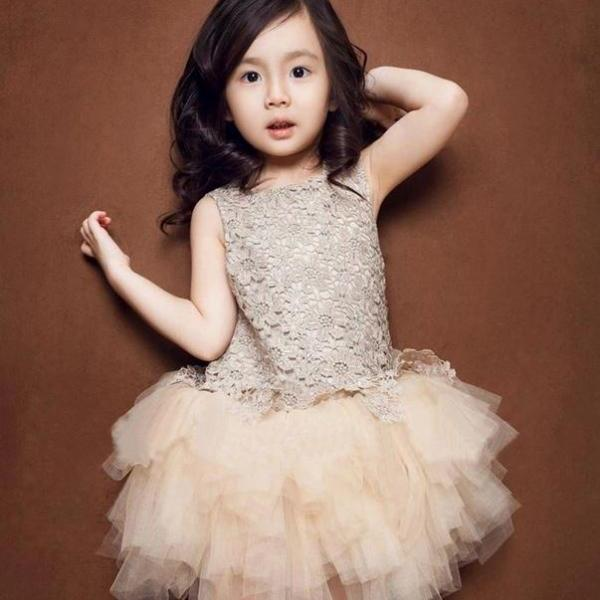 e5f3757504 ... Ivory Dress for Girls 4T Ivory Color Dress Rosette Flowers Sparkling  Dress for 4T Girls ...