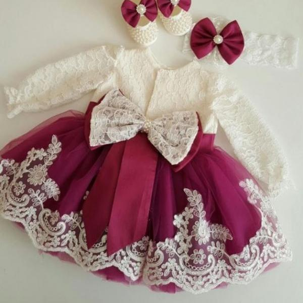 Red Baby Dress Ballgown Pageant Dress Holiday Dress for Girls Infant Girls Luxury Dresses