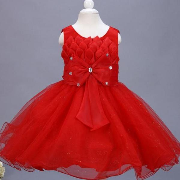 Red Tutu Dress Red Ballgown Dress for Teen Girls