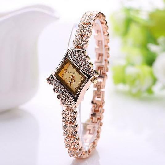 Gold Watch Brand Watch Relojes Women Wristwatch Ladies Watch Clock