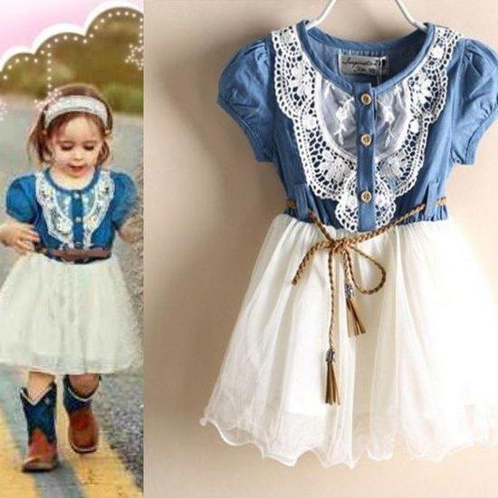 Girls Tutu Dress for Girls Cowgirl Outfit Wedding Barn Props White Dress for Girls