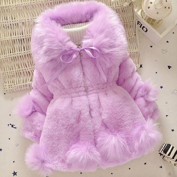 lavander jackets for girls lavander winter coats for baby girls faux fur winter jackets purple coats for girls