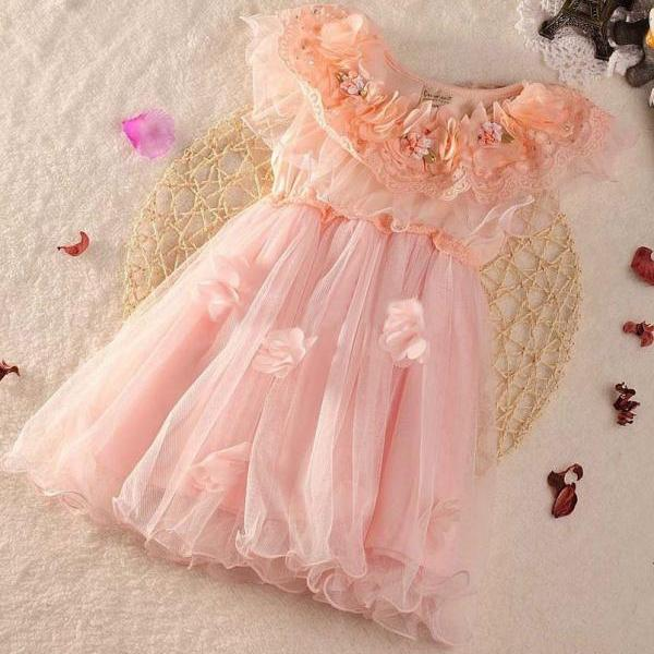 Pink Dress for Girls 3T Ready for Shipping Pink Tutu Dress Fairy Dress for Girls