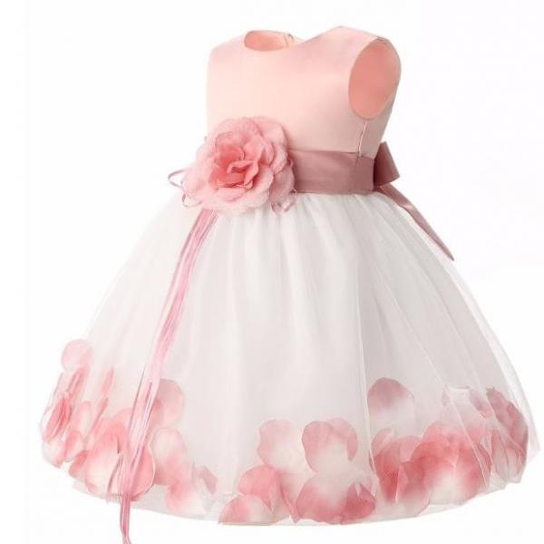 3-6 Months Dress with FREE Headband Baby Dresses Pink Dress for Newborn Girls