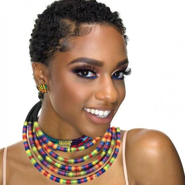 Chunky Chokers for Women Jewelry Set 5-Layers Multicolor Tirbal Wear Chokers and Necklaces-Handmade Ankara Jewelries